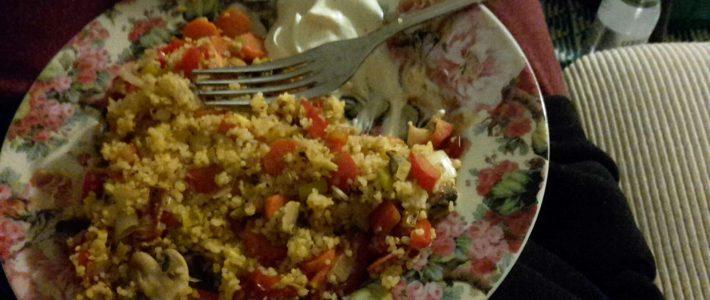 Semoule légumes et yaourt